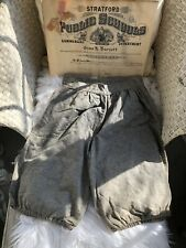 Antique Edwardian Wool Sports Bloomers Knickers With Diploma Of Owner