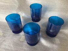 Vintage Georges Briard Blue Stemmed Mod Glasses