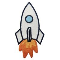 Iron Sew On Patches Embroidered applique transfers badge biker band patch rocket