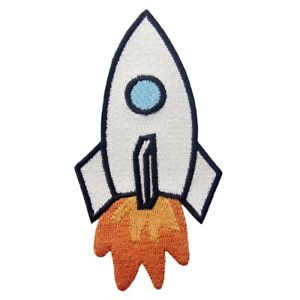 Clothing Iron On Patches Embroidered applique transfers badge biker patch rocket