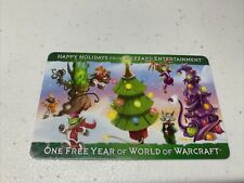 New listing Blizzard Entertainment World Of Warcraft Used subscription Card