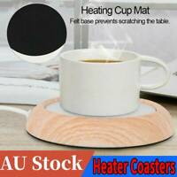 5W 5V USB Tea Coffee Cup Heater Mug Pad Heat Warmer Preservation Mat Coaster AU
