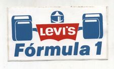 Adesivo LEVI'S FORMULA 1 F1 Promo SPONSOR sticker anni 80