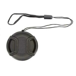 72mm center pinch snap on Front Lens Cap Cover for Canon string Nikon #