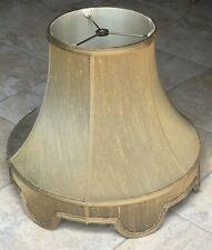 Antique Gold Silk Drum Lamp Shade Scalloped Edge