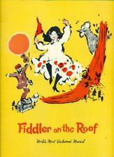 1968 FIDDLER ON THE ROOF Souvenir Program PAUL LIPSON / MIMI RANDOLPH