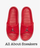 """Jordan Break """"Red/Metallic Silver"""" Men's Slippers Flip Flops Sliders All Sizes"""