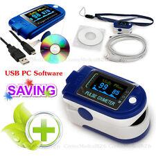 CE CMS50D+ 24HRS Pulse Oximeter SPO2 Pulse Rate Blood Oxygen Monitor PC Software