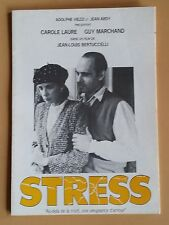 Press Release Stress Bertucelli Carole Laure Guy Marchand *B