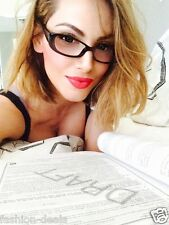 Fashion Chic Very Hot Cat Eye Women OLIVE Frame Clear Lense Eyeglasses Glasses