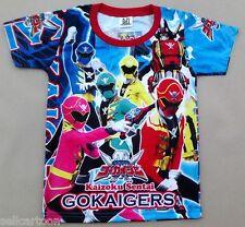 GOKAIGERS POWER RANGERS  Kid Boys Girl T Shirt Size 12 Age 10-11 # 01 FREE SHIP