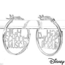 DISNEY High School Musical Hoop Earrings Made in 925 Sterling Silver