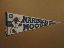 MLB Seattle Mariners Vintage 1990's MARINER MOOSE Team Logo Mascot Pennant