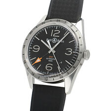 Pre-Owned BELL & ROSS VINTAGE BR123GMT-R Men's SS Black Automatic Watch, MD