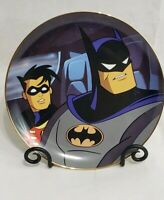 Warner Bros Batman & Robin Collector's Plate Limited Edition DC Comics Batmobile