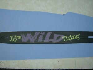 """Poulan 18"""" WILD THING ChainSaw Bar 62 Drive Links"""