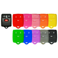 Silicone Protective Rubber Keyless Remote Key Fob Cover Case For Ford 3 Button Fits Mazda