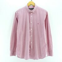 *Givenchy Men's Striped Shirt in Pink & White Size M Long Sleeve Cotton CD2055