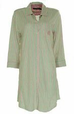 Lauren Ralph Lauren Women's Jersey Sleep Shirt Pink Green Stripes Size XL $62