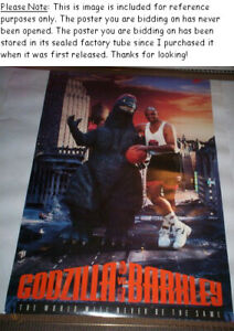 SEALED Charles Barkley Vs. Godzilla #5322 ◊ Vintage Nike Poster w OSP Label