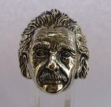 Bronze Einstein Ring Custom Size Handmade Physicist Philosopher Science R-62b