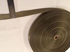 AUS MADE heavy duty BN WEBBING polyester 25mm Khaki 50mtrs ROLLS