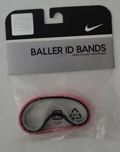 NIKE LeBron James Baller ID Bands Wristbands Red Marble, Black, Clear DEADSTOCK