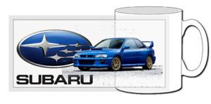 Subaru impreza, mug, gift, race, car, jdm, 22b, classic, gc8, wrx, sti, p1