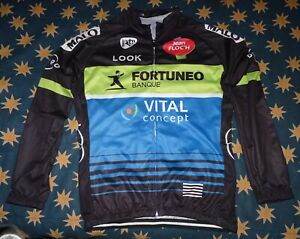 Fortuneo - Vital Concept cycling jersey longsleeve  Look Bretagne PERFECT CONDTN