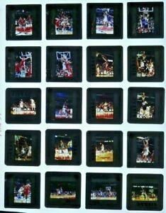 JTM5-34 1980s-1990s NBA Chicago Bulls MICHAEL JORDAN (100pc) ORIG 35mm Slides