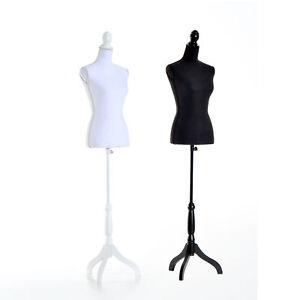 Female Mannequin Torso Dress Display Tripod Stand Adjustable Height Modern