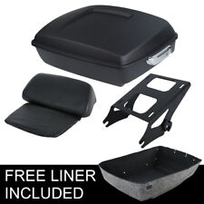 Chopped Tour Pak Pack Trunk Backrest +Rack For Harley Touring Road Glide 14-18
