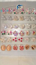 Joblot of 18Pairs Mixed Design Sparkly Diamante stud Earrings-NEW Wholesale lot7