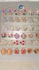 JOBLOT de 18 Pares Mezclados Diseño Brillante Diamante Aretes-nuevos al por mayor lot7