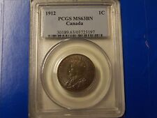 1912 Canada 1C Large Cent PCGS MS63BN  **NICE COIN** FREE U.S. Shipping