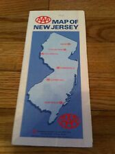 1988 New Jersey AAA AMERICAN AUTOMOBILE ASSOCIATION MAP Designation Location old