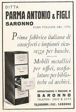 W9514 Casseforti Parma Antonio - Saronno - Pubblicità del 1938 - Old advertising