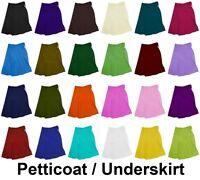 24 Color Cotton Petticoat Saree Sari Matching Underskirt Bollywood Indian Skirt