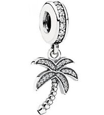 New Authentic Pandora 791540CZ Palm Tree  CZ Sterling Silver Bead Charm