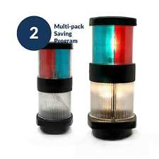 Masthead Tri-color Anchor All Round Navigation Boat Light, 12V (Pair) FO-2071-M2