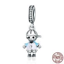 b38ecb0bd0be Auténtico camada Boy de ley 925 encantos perlas encajan Original Mujer Fino  pulseras