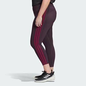 adidas Women's 3-Stripe Believe This 7/8 Plus Size Tights GD3681 Dark Purple