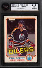 1981 82 OPC O PEE CHEE hockey #111 PAUL COFFEY RC KSA 8.5 NM-MT + OILERS ROOKIE