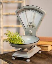 Farmhouse Kitchen Scale Removable Bowl Distressed Gray Retro