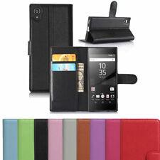 Portafoglio Pelle PU Libro Custodia Flip Telefono Cover Titolare Per Sony Xperia L1 UK