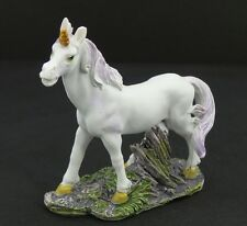 "Mini Unicorn Figurine Statue Purple Mane & Tail Mythical Fantasy 2.5"" New 1"