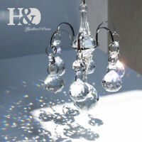 Clear 20mm Crystal Ball Decor Pendant Chandelier Suncatcher Window Hang Ornament