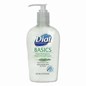 Dial® Basics Hypoallergenic Liquid Hand Soap, Honeysuckle, 7.5 oz.