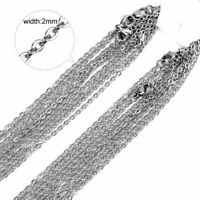 50pcs Wholesale Stainless Steel Silver Tone Necklace for DIY Jewelry Chains