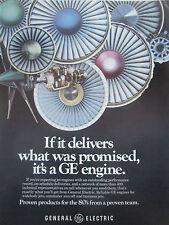 8/1980 PUB GENERAL ELECTRIC ENGINE MOTEUR AVIATION ORIGINAL AD